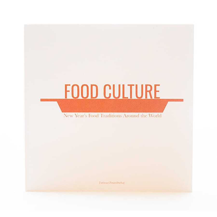 Booklet about new year food cultures
