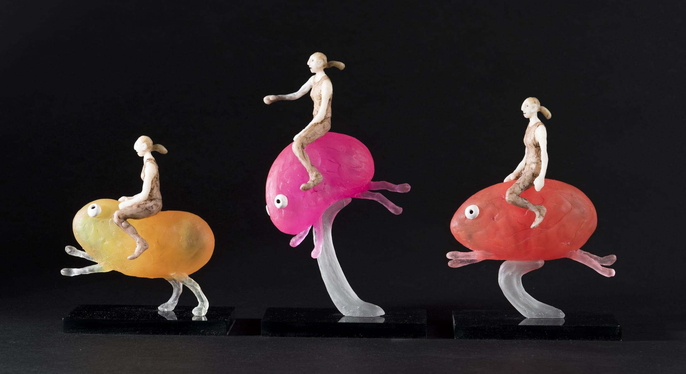 Bizarre Creature Riders sculpture
