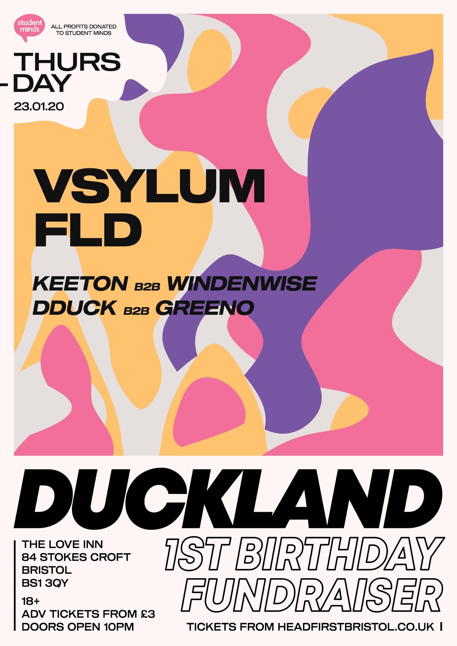 Ben Keeton Duckland StudentMinds Event Poster