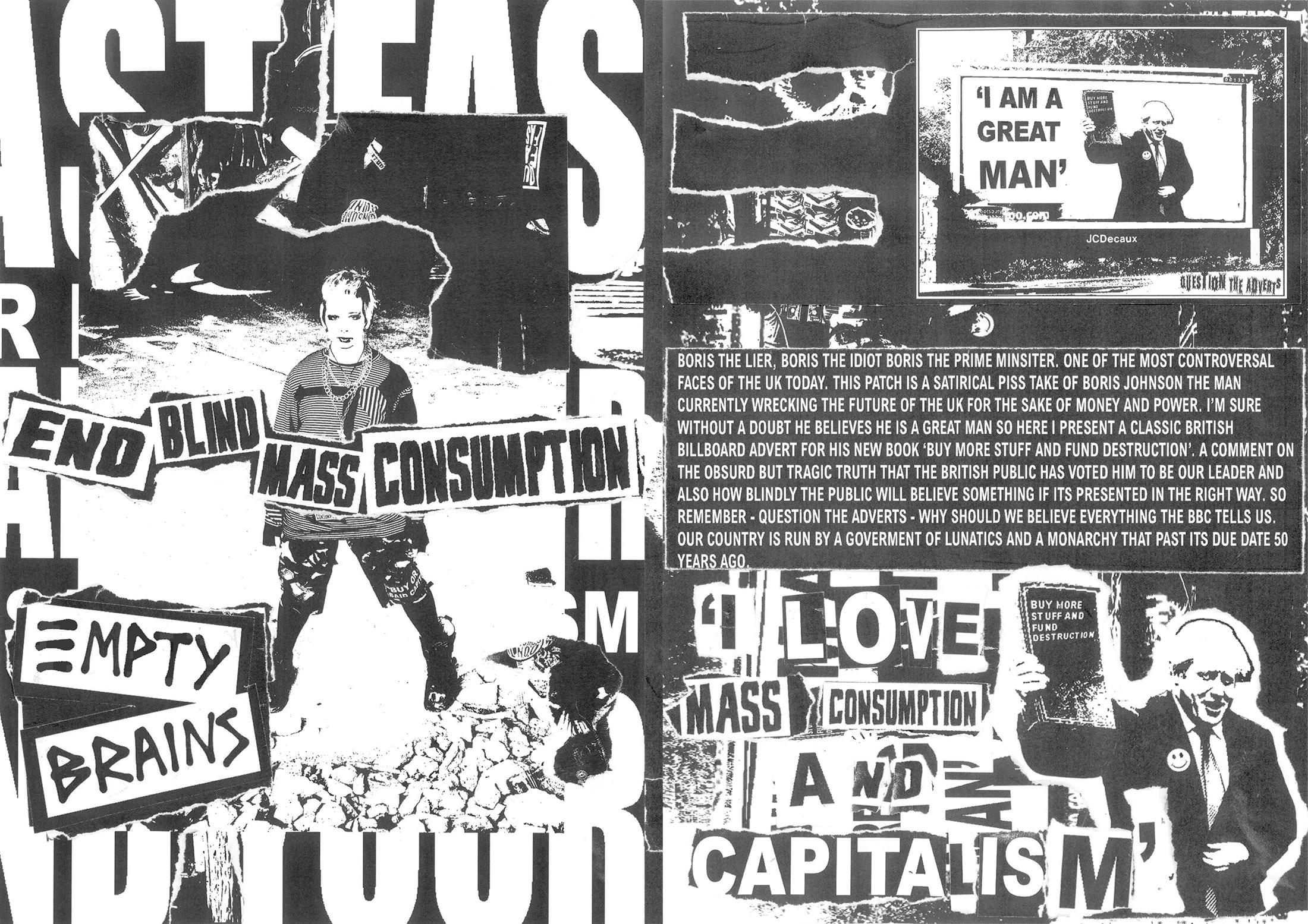 2 Pages from the End Blind Mass Consumption Zine