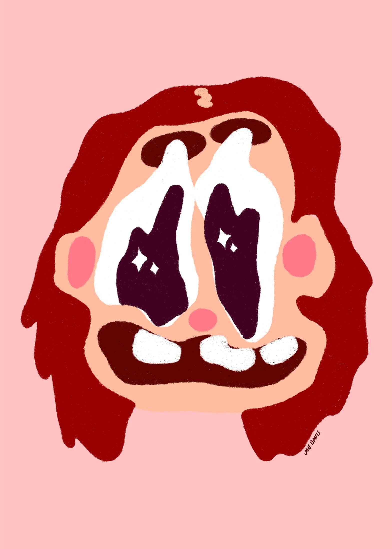 Digital portrait of Bristol Drag performer Sneeze