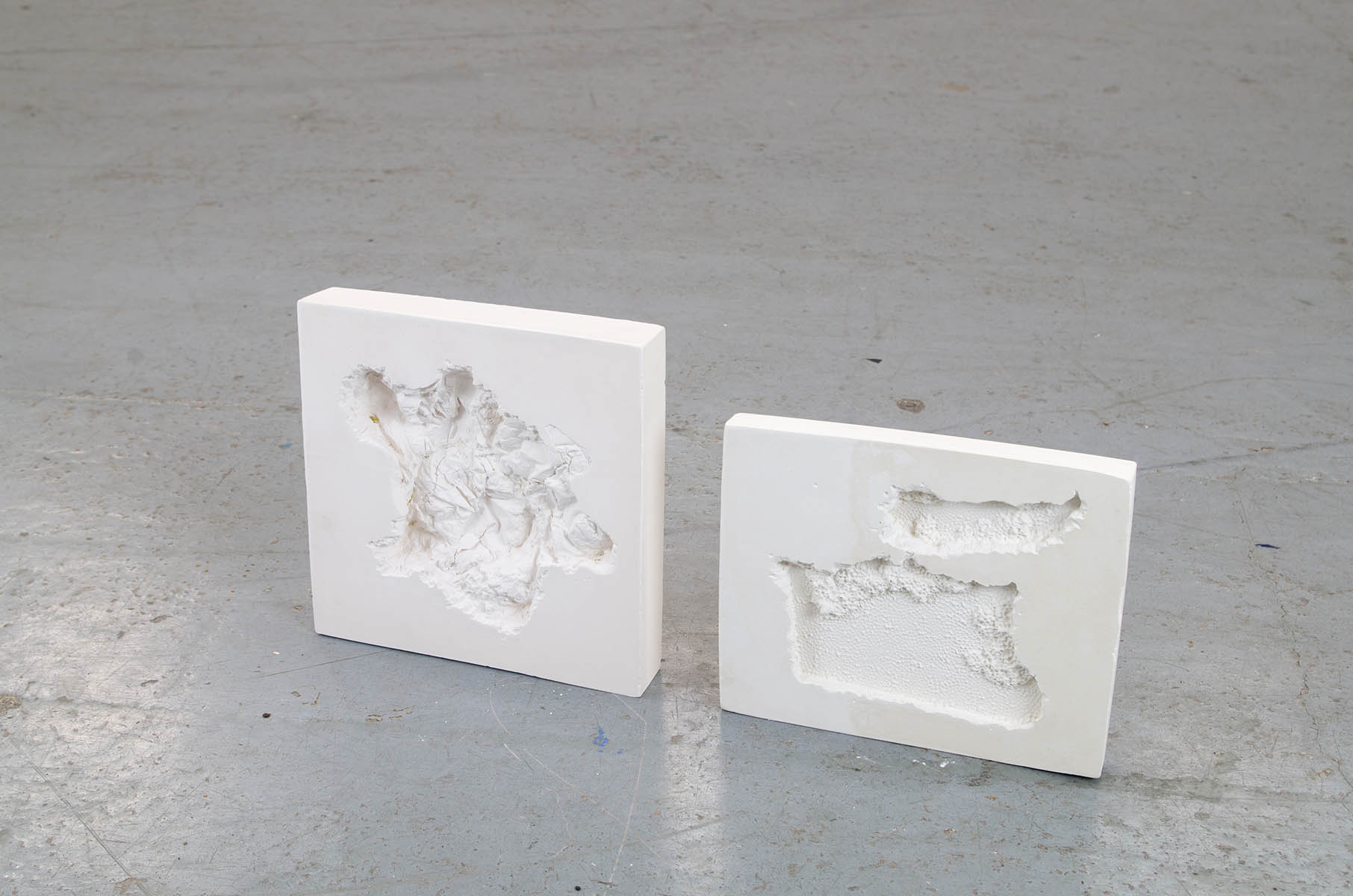 Plaster sculptures by artist Molly Harcombe