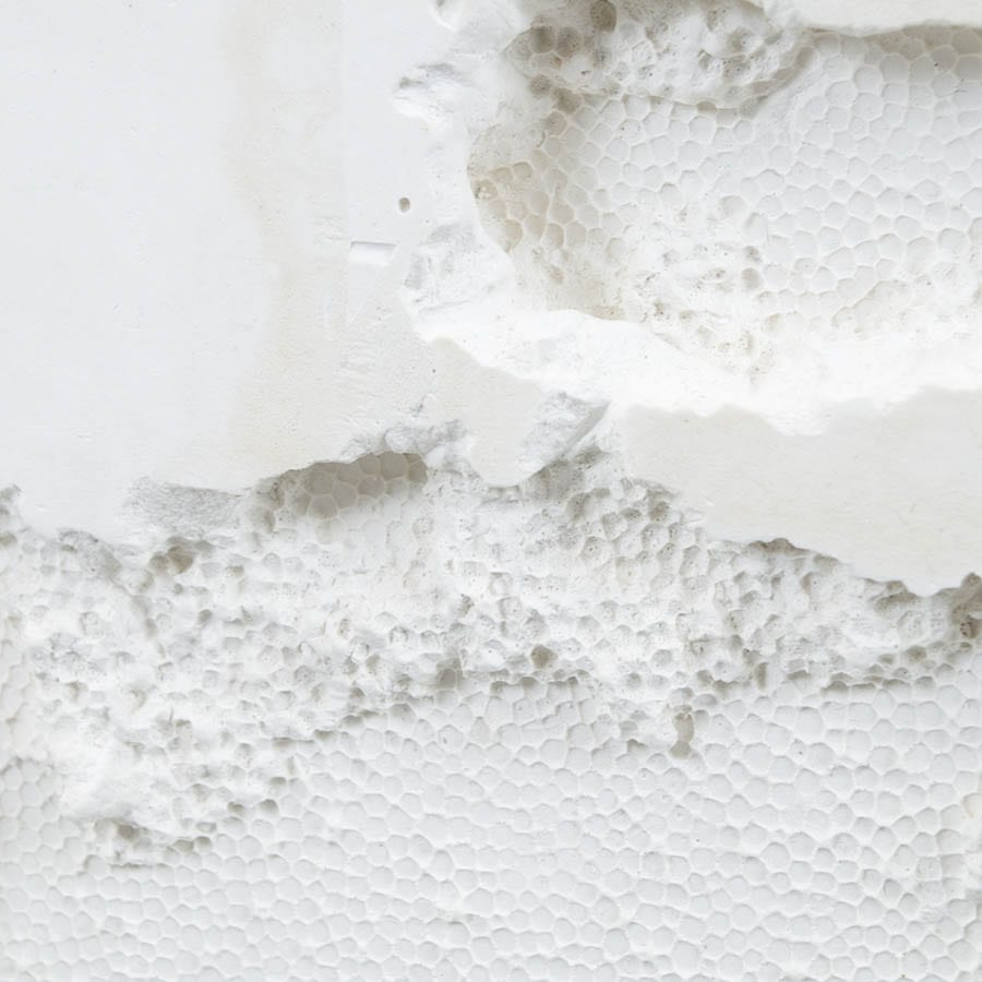 Texture of plaster sculpture by artist Molly Harcombe