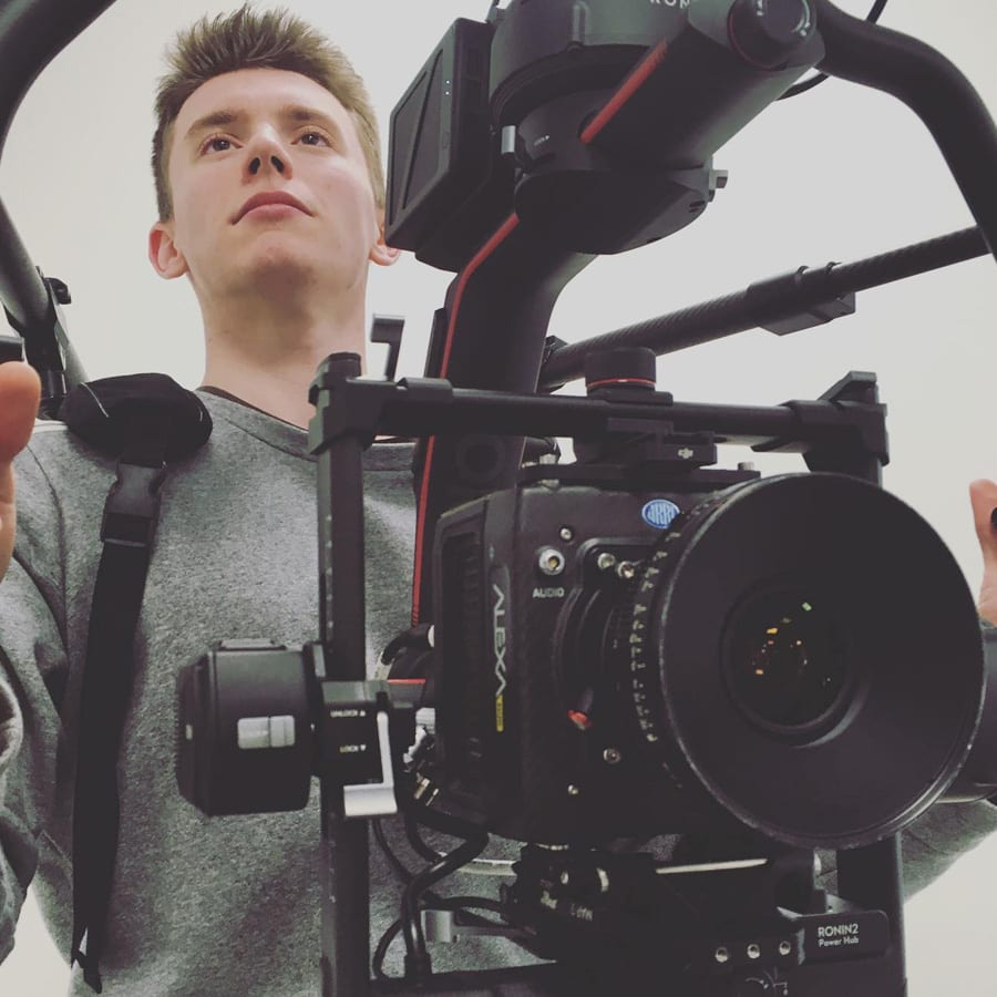 This image shows my training with the Ronin SteadyCam & the ARRI Alexa Mini