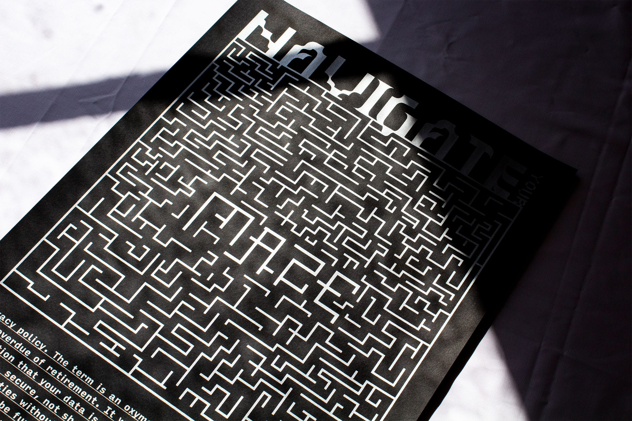Screen-Printed Poster (2020) 'Navigate The Maze'