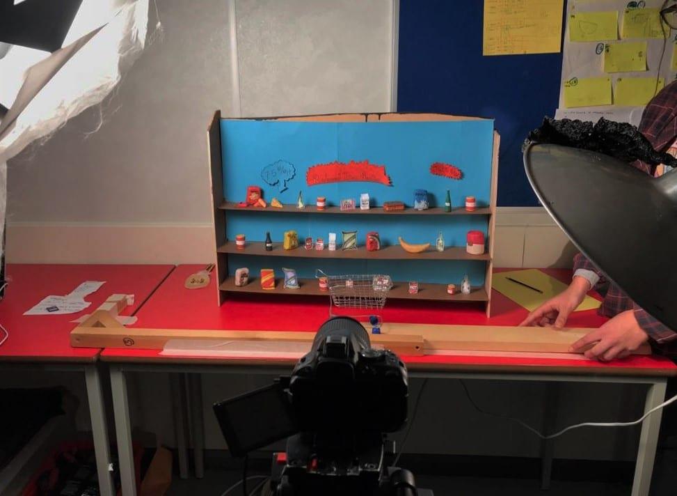 Set build during BFI animation camp.