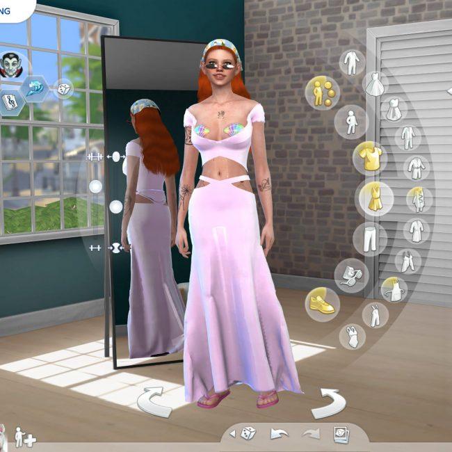 Amy's avatar and garment