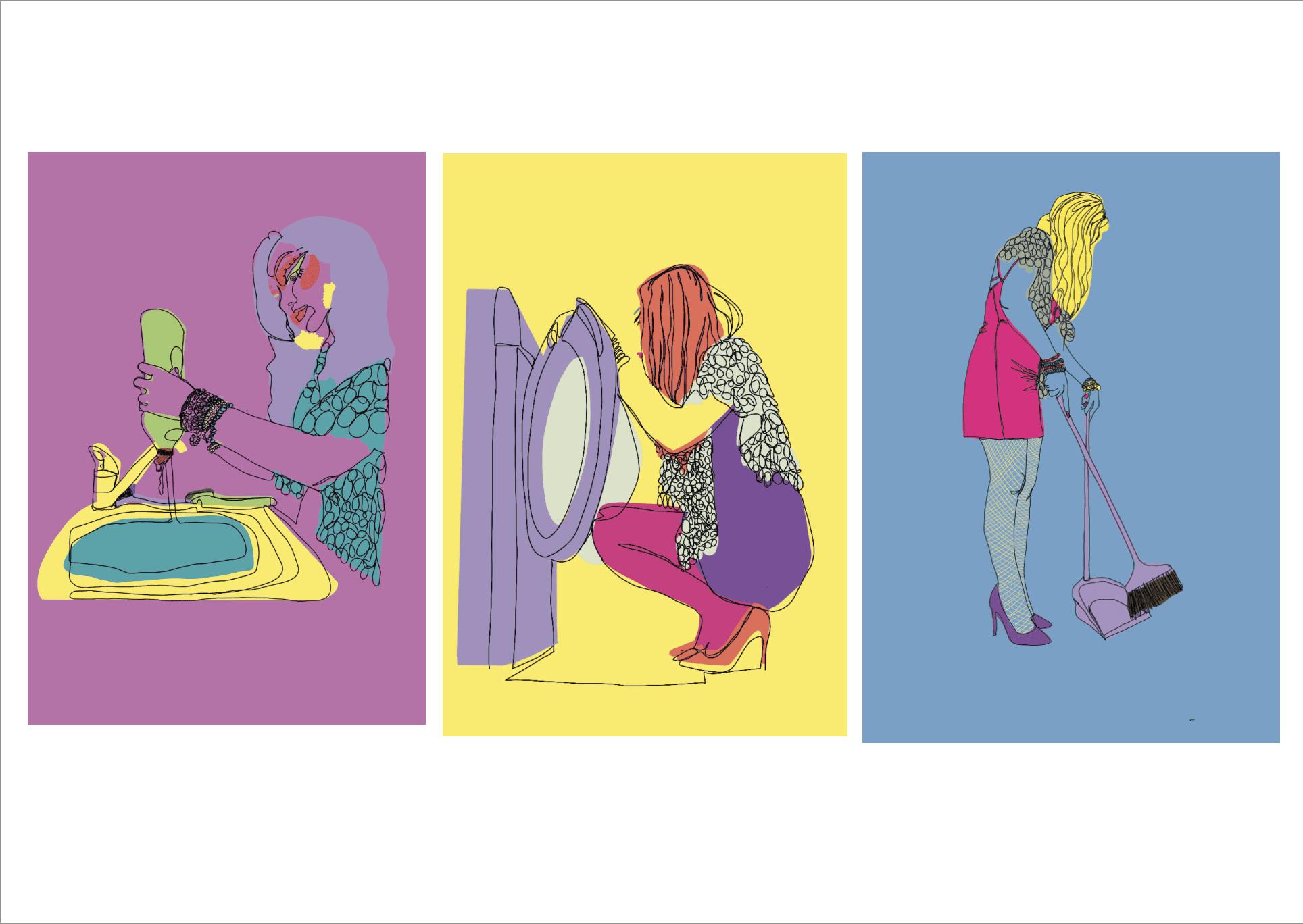 drag inspired print. designs