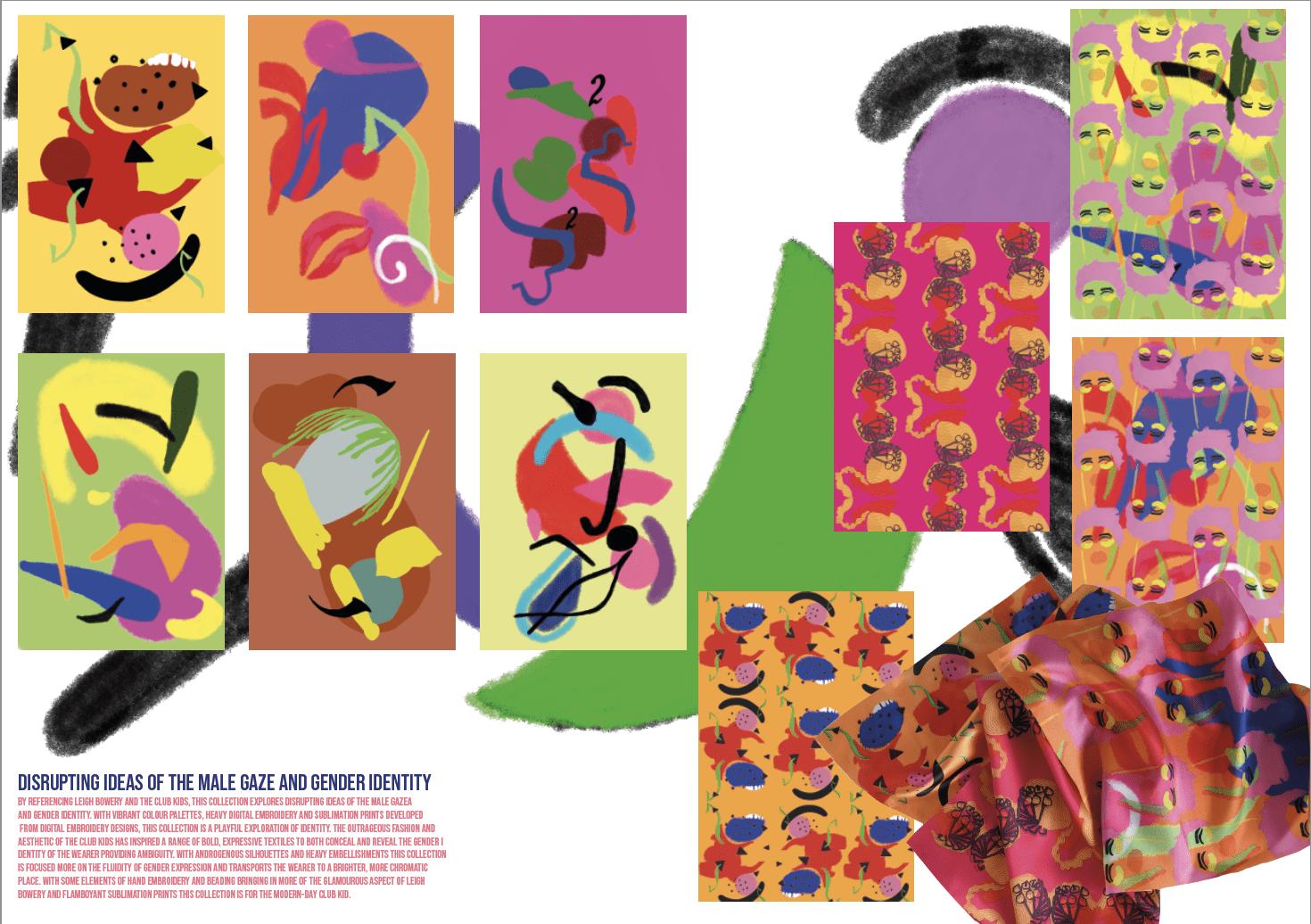 Club Kids inspired print design portfolio page