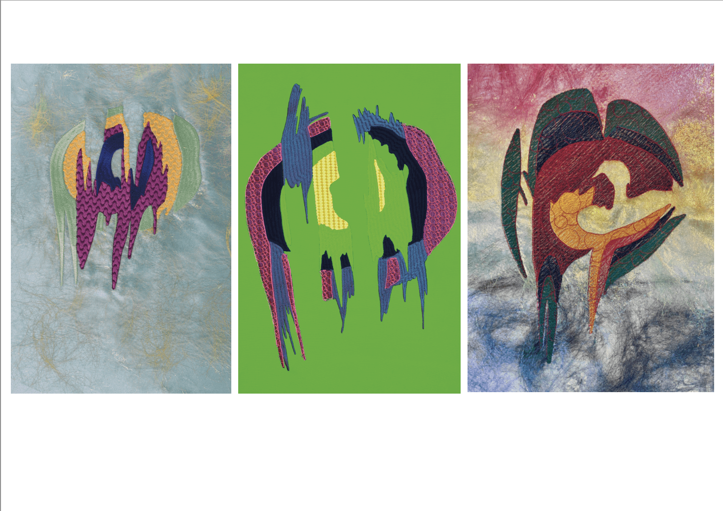 bold, abstract digital embroidery designs
