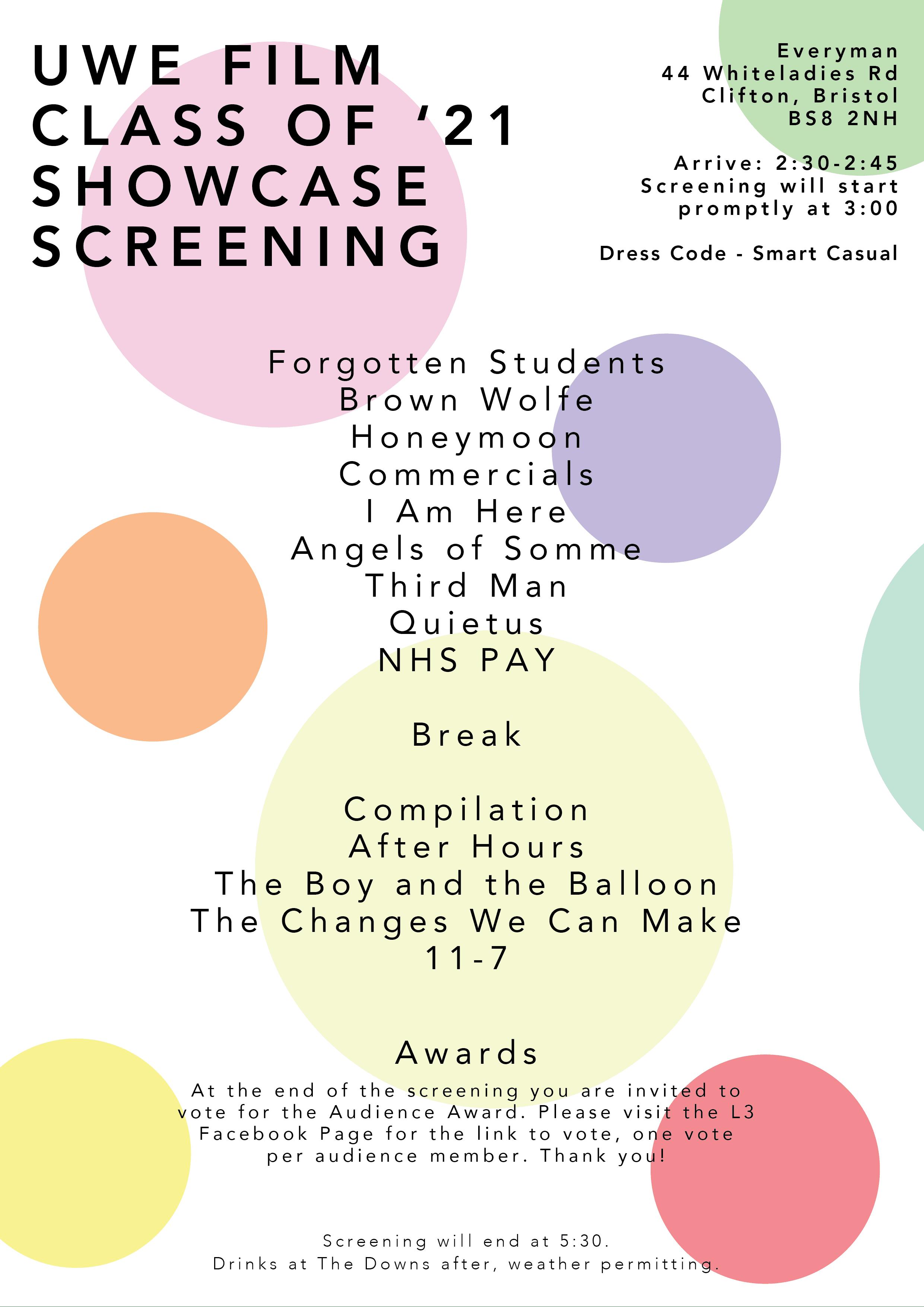 UWE FILM Screening Poster