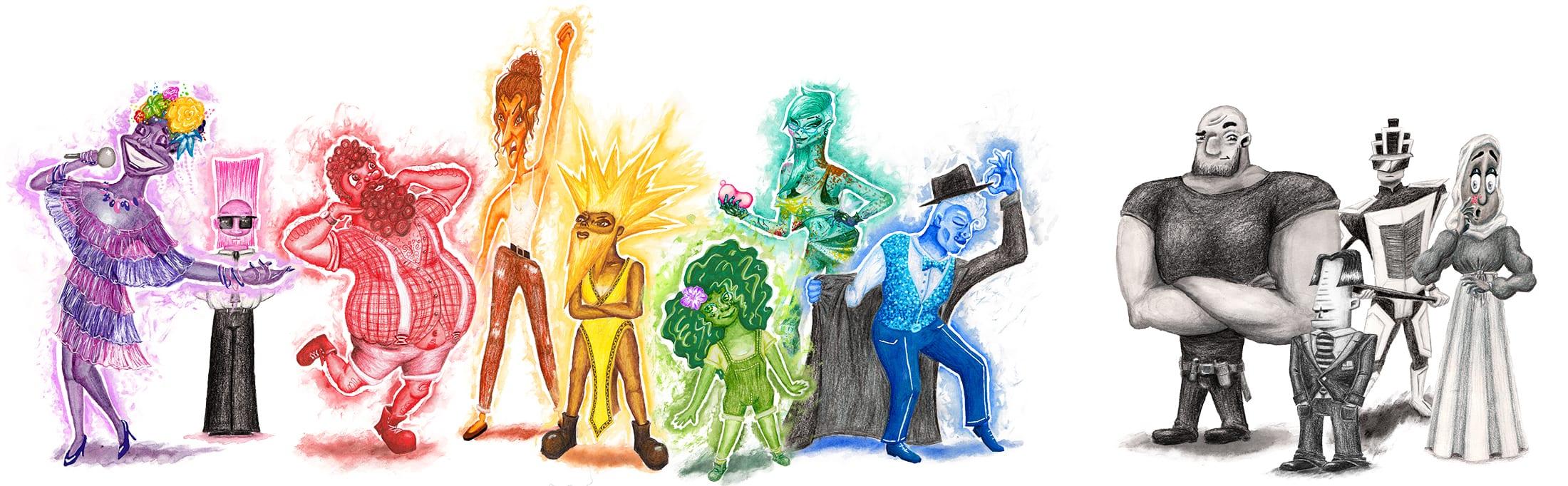 "Full cast of ""True Colours"""