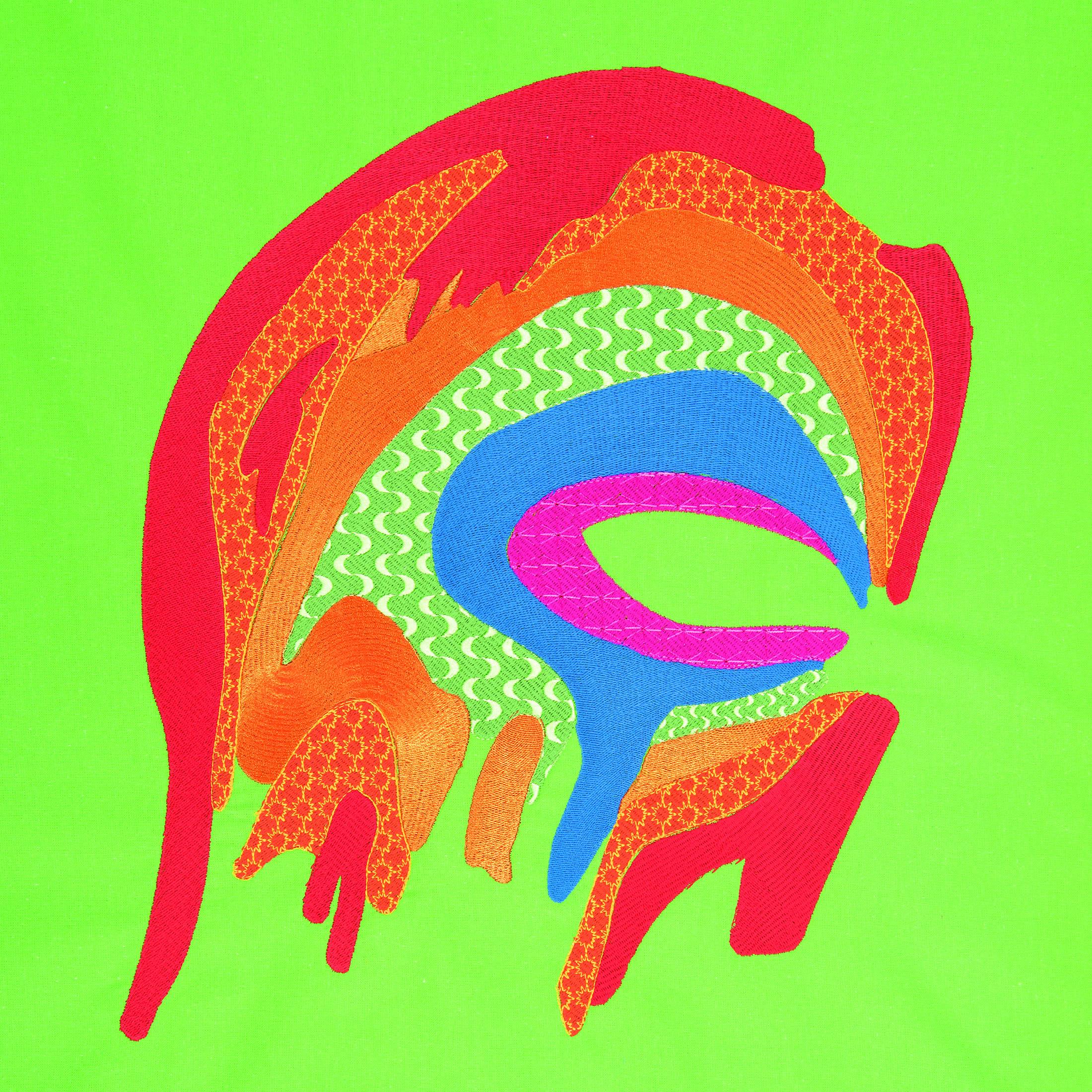 bright rainbow digital embroidery